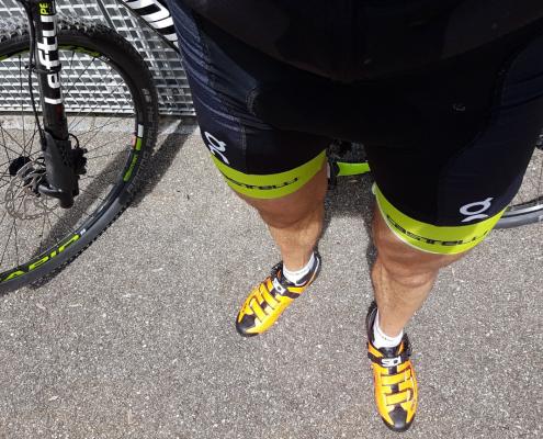 Lukas Stähli beim Fahrrad Training