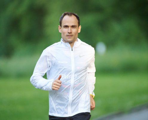 Lukas Stähli beim Lauftraining